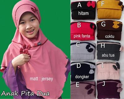 Jilbab Anak Pita