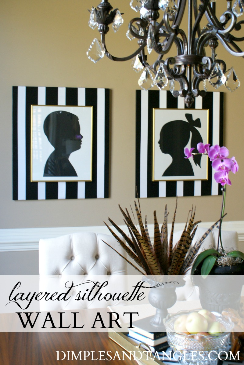 DIY LAYERED SILHOUETTE OVERSIZED WALL ART - Dimples and ...