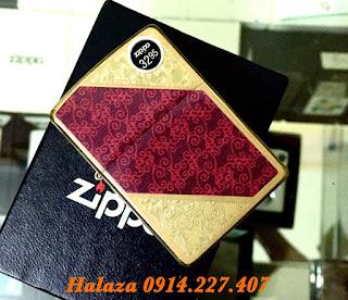 Zippo Mạ Vàng Hoa Văn Độc Đáo | Zippo Men Tại Hà Nội