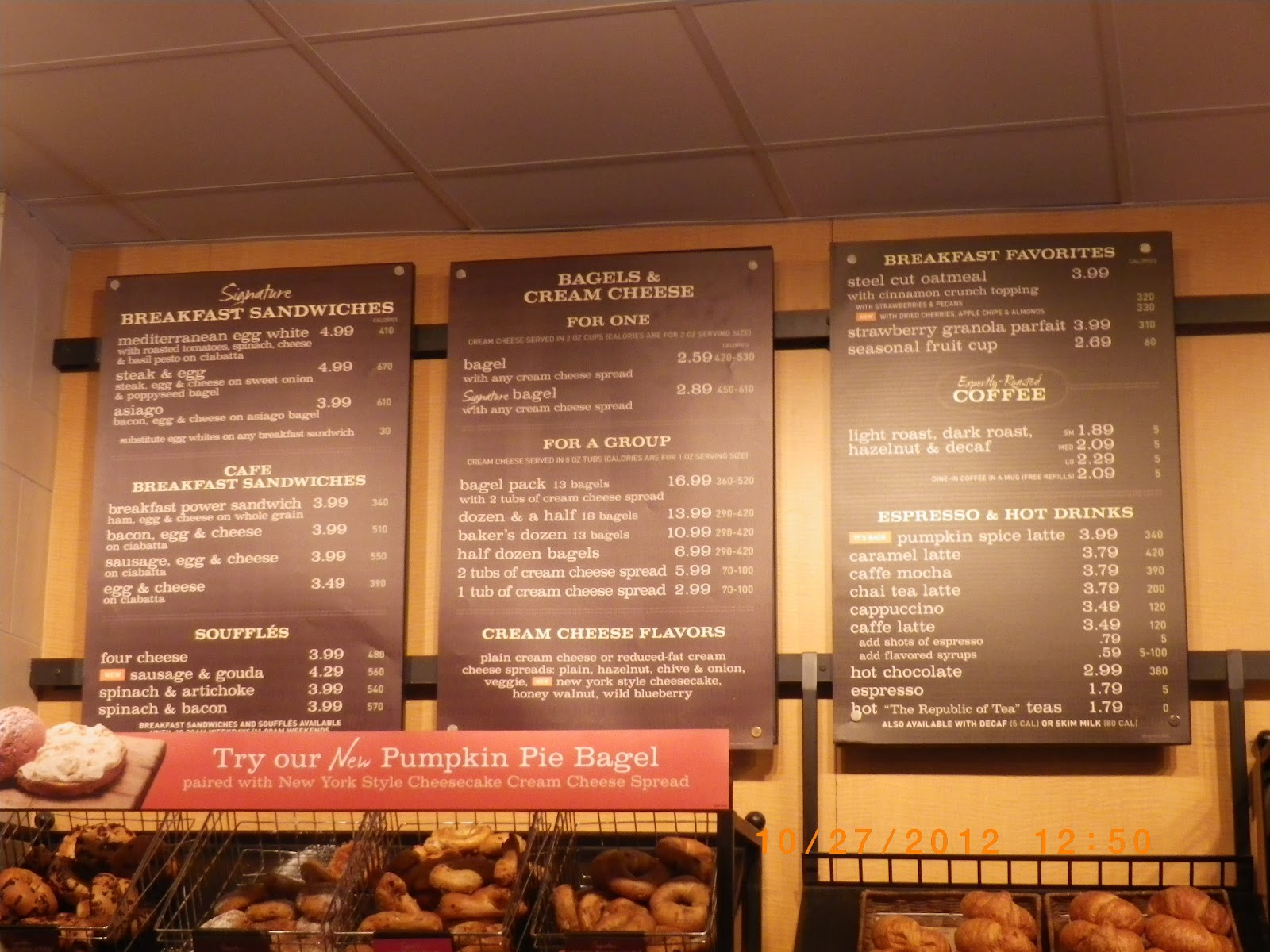 This is a picture of Simplicity Panera Bread Printable Menu With Prices