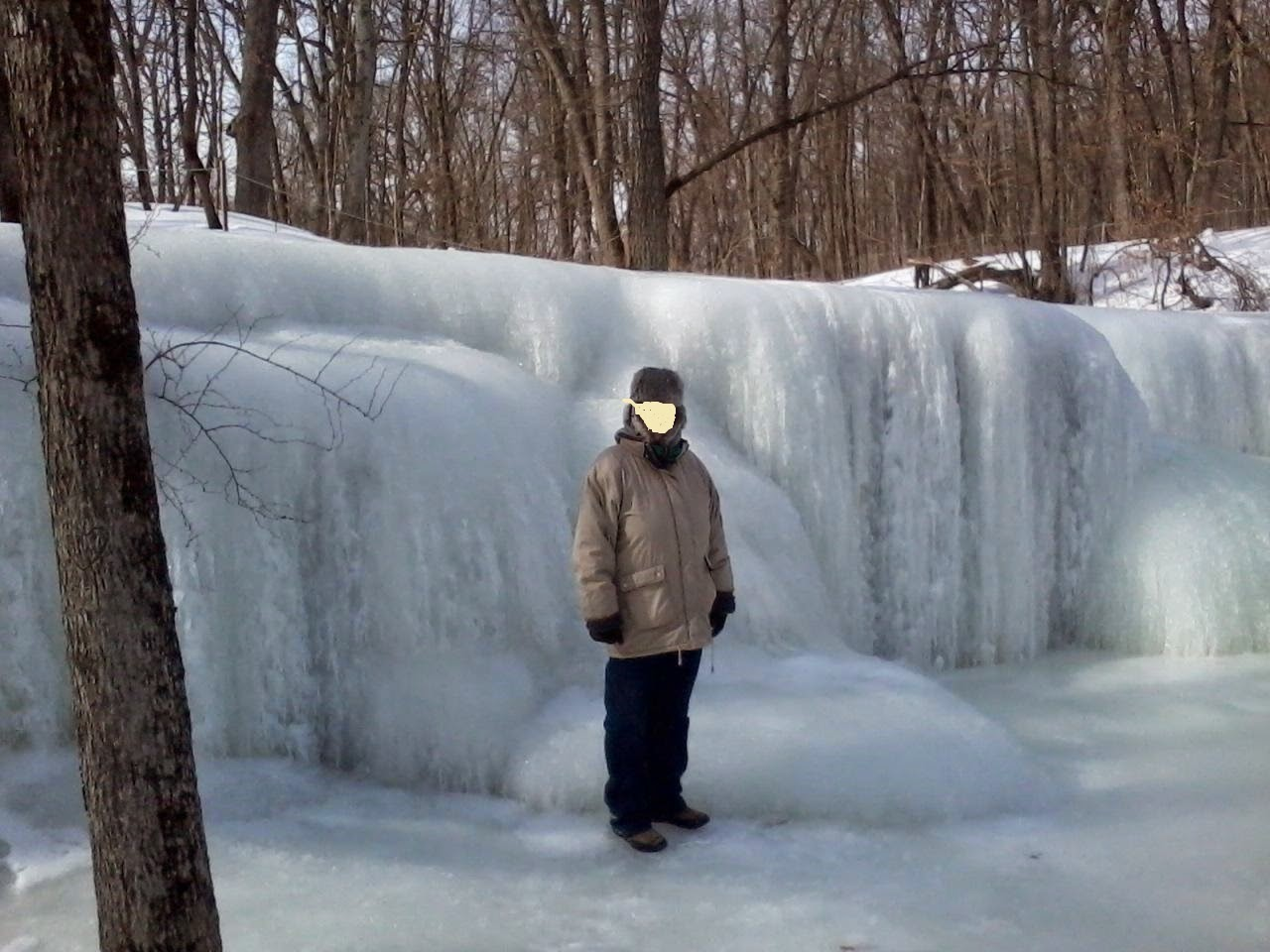 nerstrand minnesota big woods frozen falls