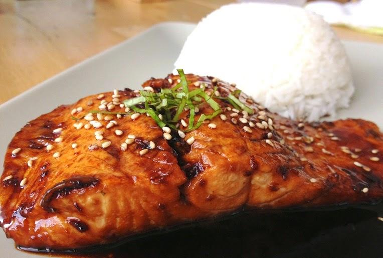 cara memasak salmon saus teriyaki