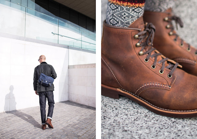 red wing blacksmith boots review, japanese socks by chup glenn clyde