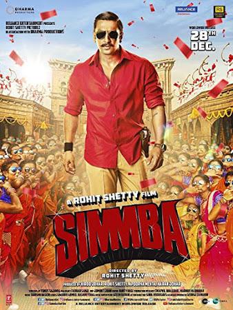 Poster Of Bollywood Movie Simmba 2018 300MB Pdvd Full Hindi Movie
