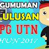 Cek Hasil PLPG UTN Tahun 2017 Lengkap