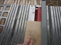 Cutting in the slots on the 1x4
