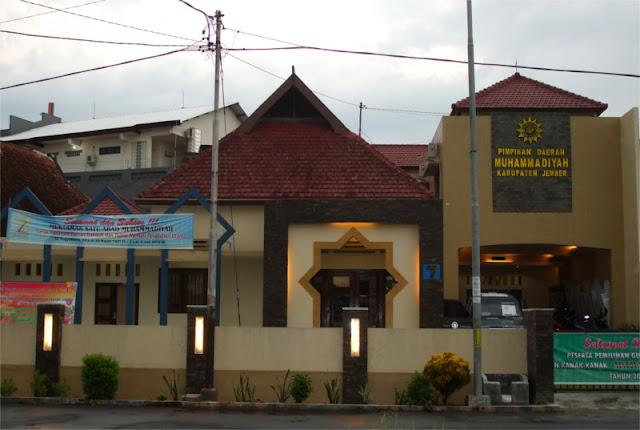 Kantor PDM Pimpinan Daerah Muhammadiyah Kabupaten Jember, Jl. Bondoyudo no.7