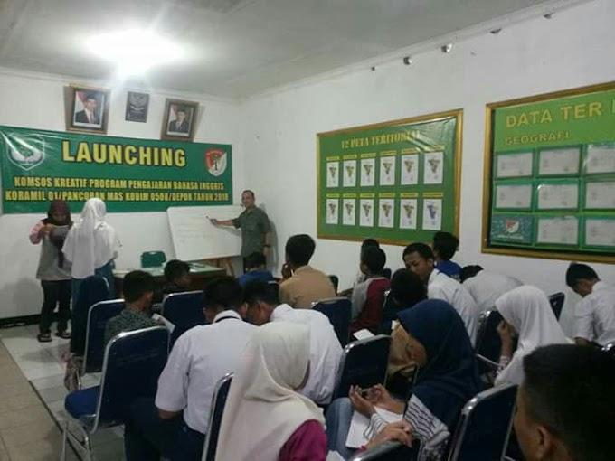 Koramil 01/Pancoran Mas Fasilitasi Warga Belajar Bahasa Inggris Gratis