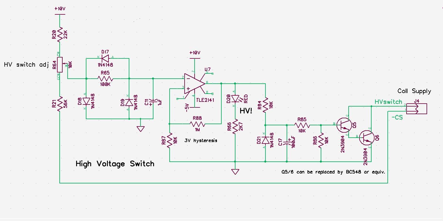 Pauls Diy Electronics Blog The Circuit Is A Triangle Waveform Generator That Uses As Few Output Of Collector Drain Supply Cs Fed To Trimmer Can Be Used Set Switch Over Voltage This Rectified