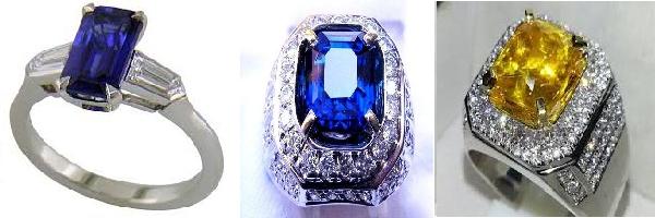 Berbagai warna seperti biru, kuning, jingga, kehijauan, merah muda dan ungu - memiliki tekstur bening mengkilat bersinar jika terkena matahari atau sinar menjadi menjadi daya tarik tersendiri keindahan batu blue safir ini. Batu cincin safir