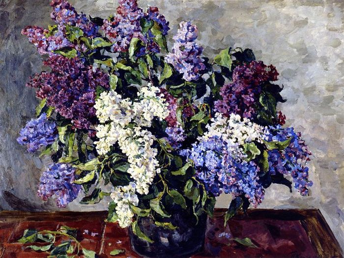 Paintings Of Spring Bouquets Of Lilac In Painting
