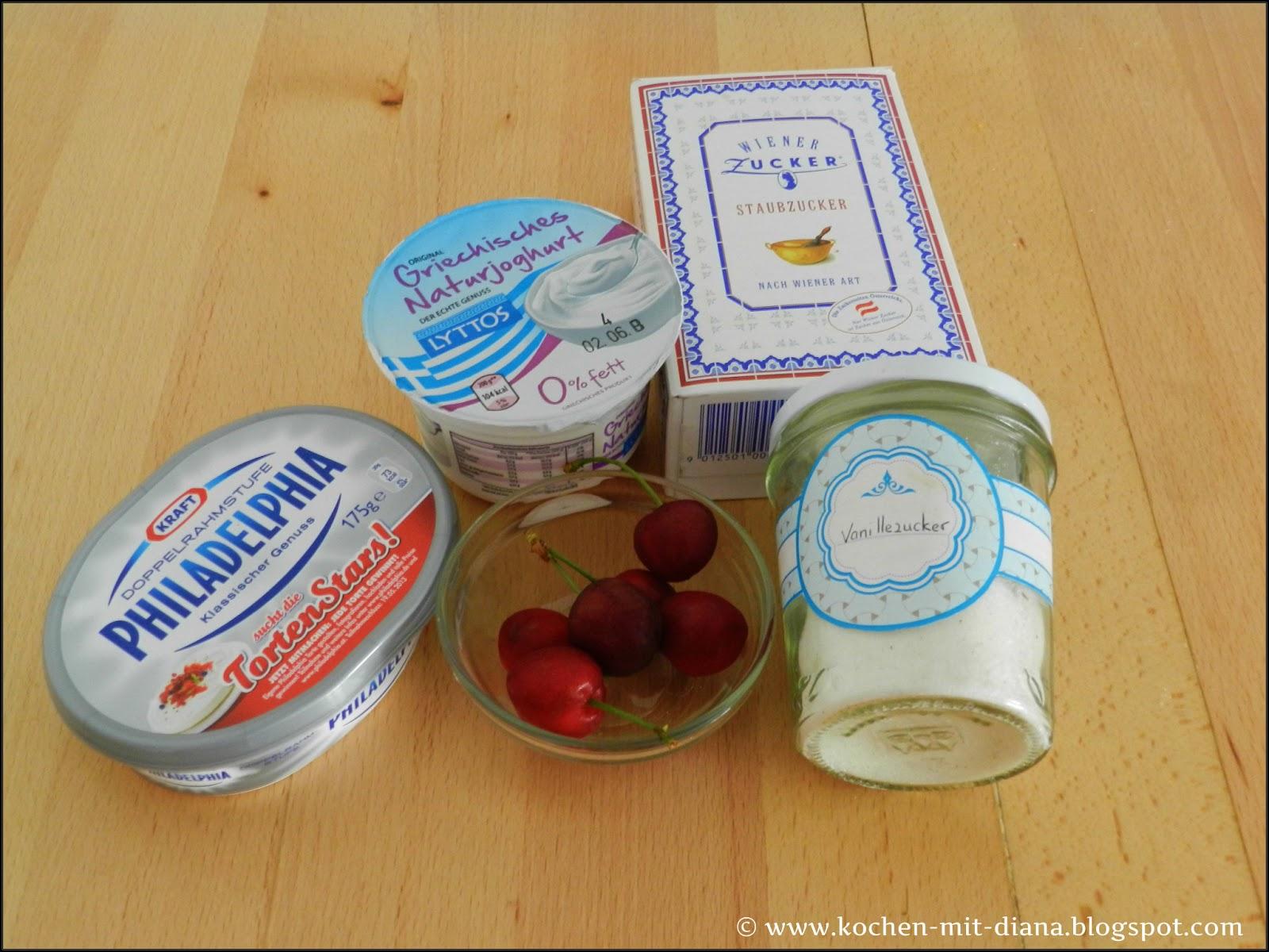 Zutaten superschnelles Kirsch-Eiscreme