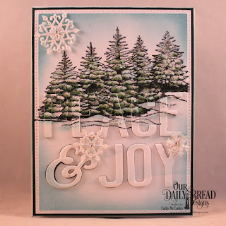 Our Daily Bread Designs Stamp Set: Peaceful Wishes, Custom Dies: Peace & Joy, Pierced Rectangles, Snow Crystals