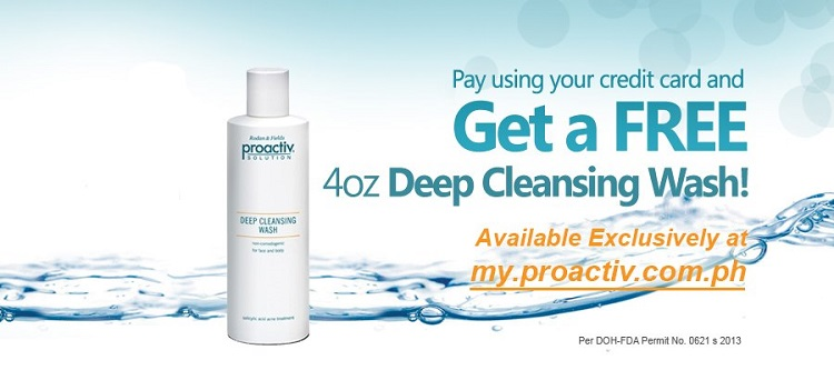 Get Free Proactiv 4oz Deep Cleansing Wash by Using your Credit Card