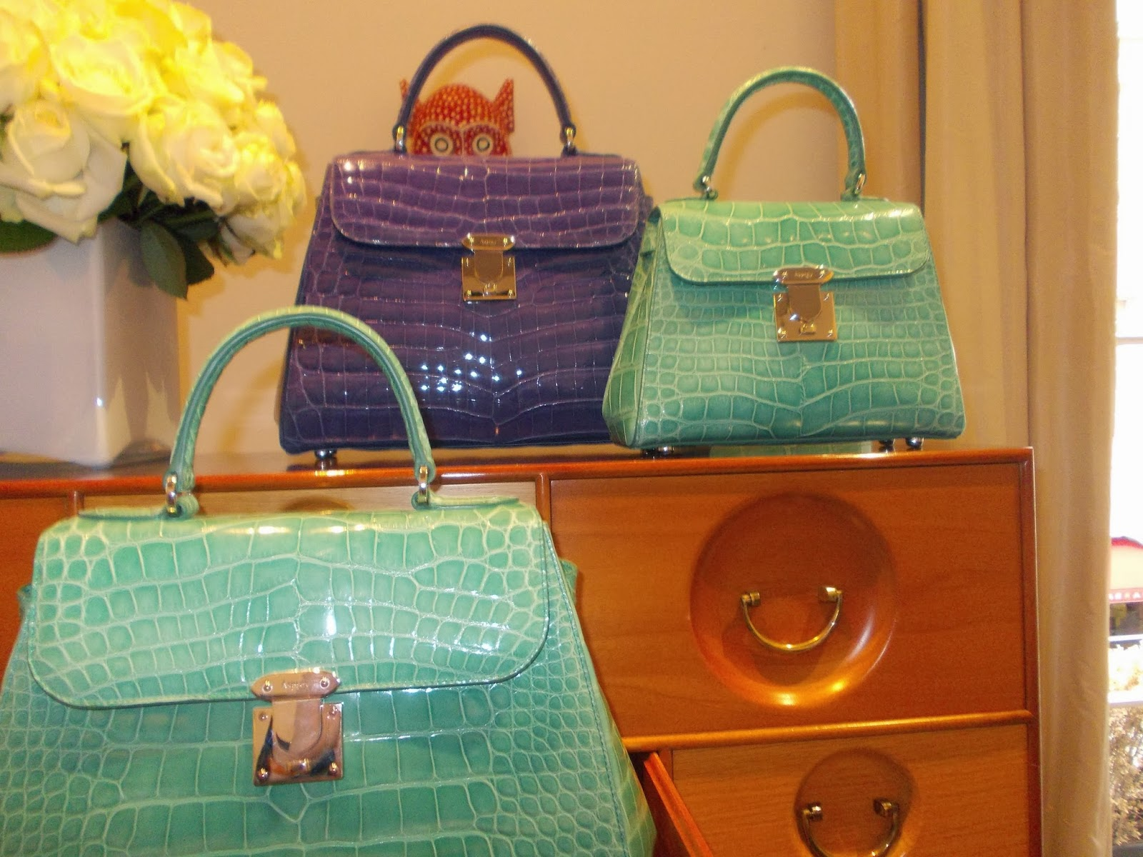 Mint And Purple Are Other Two Colours That Definitely Going To Be Present Next Year These Beautiful Croc Bags Have Got A Vintage Feel With Modern