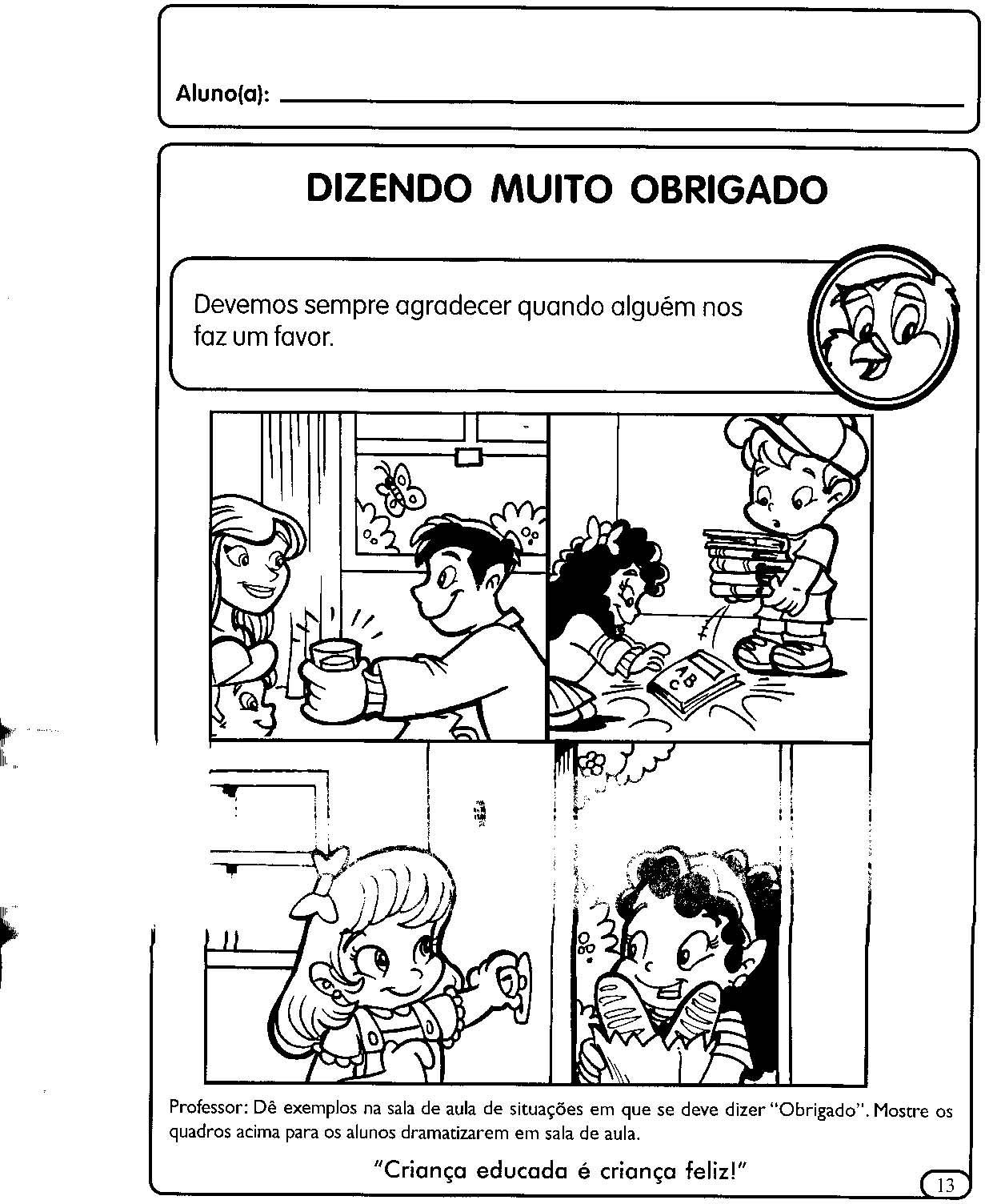 Muitas vezes ESPAÇO EDUCAR: Atividades para a Educação Infantil: valores e boas  JF42