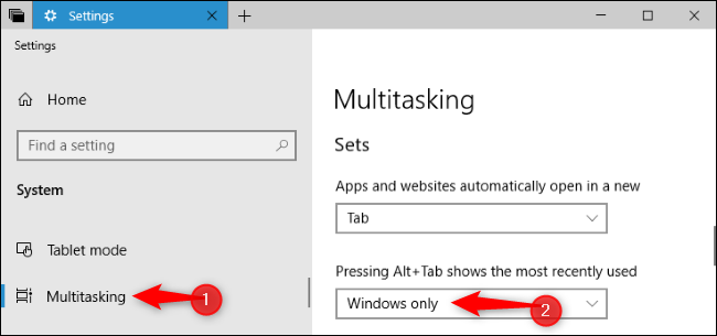 switcher Alt + Tab di Windows