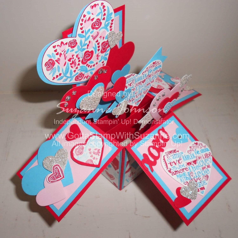 Gotta Stamp With Suzanne Johnson Valentine Hearts Card In