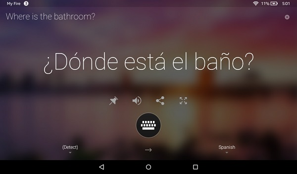 Microsoft Translator app released for Amazon Fire tablets