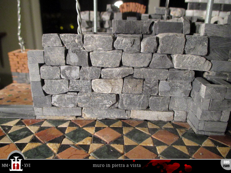 Domus project costruzione 210 piano nobile perimetro murario 3 e arcate in pietra - Muro pietra interno ...