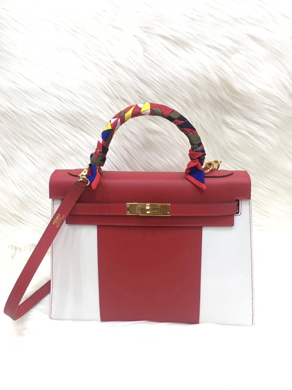 8c64a581f62c ... promo code for hermes kelly 32cm sellier flag epsom handmade handtitch  mirror original leather bag 72009 ...