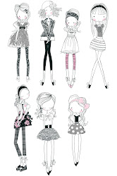 girly doodles wendy burns draw drawings teen drawing teens stuff doodle sketches sketch fun designs outfits very wendysdesignblog surface textiles