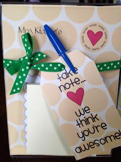Teacher note gifts