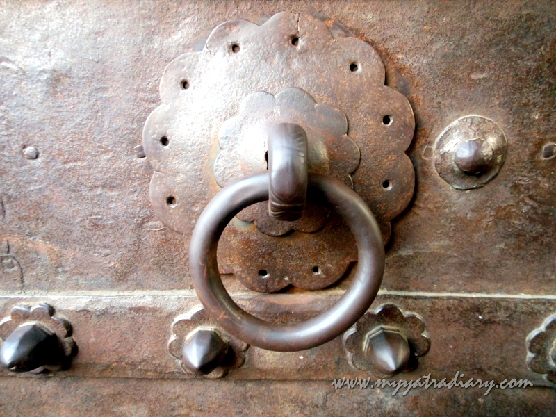 A latch on a door in Shaniwar wada fort, Pune