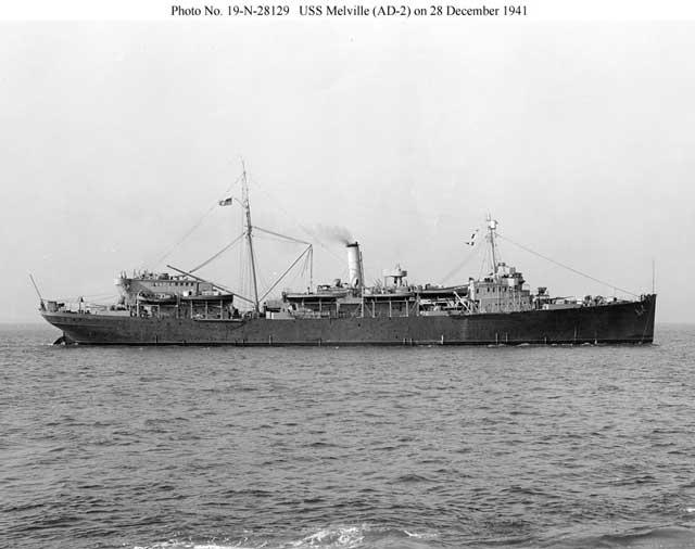 Destroyer tender USS Melville, 28 December 1941 worldwartwo.filminspector.com
