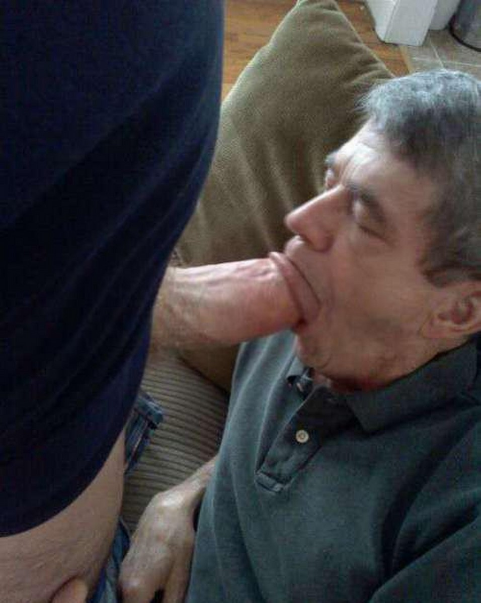 Desperate Daddy Cums In Own Mouth