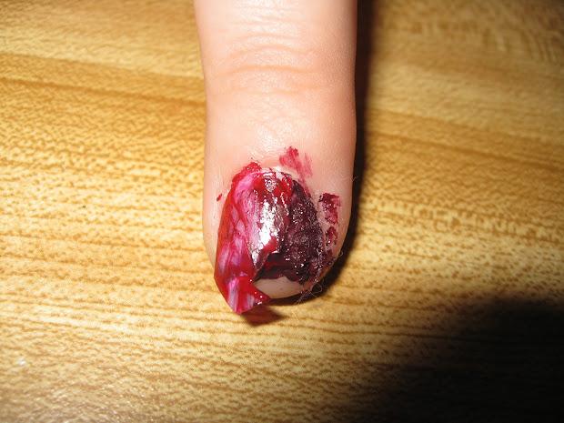 hopemarie123 halloween gross nail
