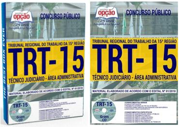 Apostila TRT15 gratis Técnico Judiciário CD