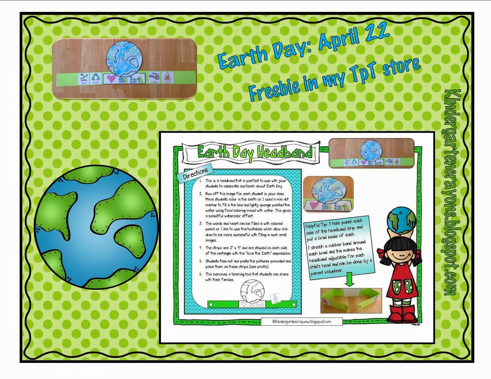 Kindergarten Crayons Finally A Freebie Celebrate Earth Day With Your Kindergarten