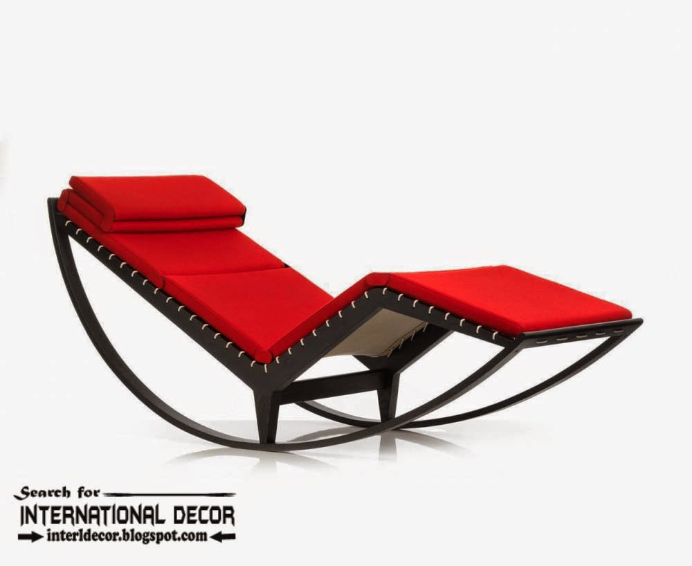 Cool Italian Rocking Lounge Chair In Red Relaxing Chair Gmtry Best Dining Table And Chair Ideas Images Gmtryco