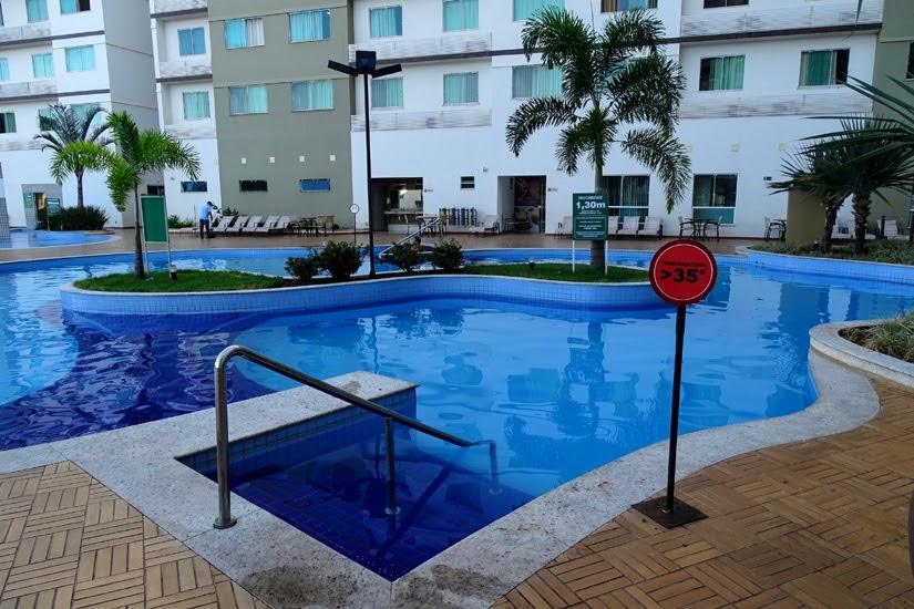 Piscinas do hotel Privê Riviera Park - hotel em Caldas Novas
