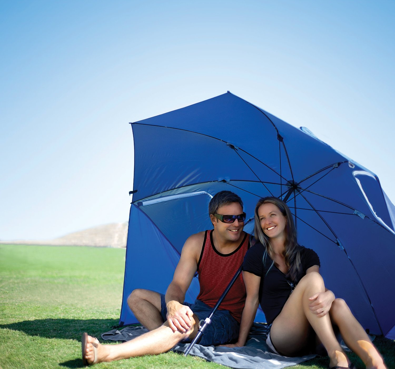 Super Brella Chair Eames Wood Beach Umbrella Review Wheater Shelter