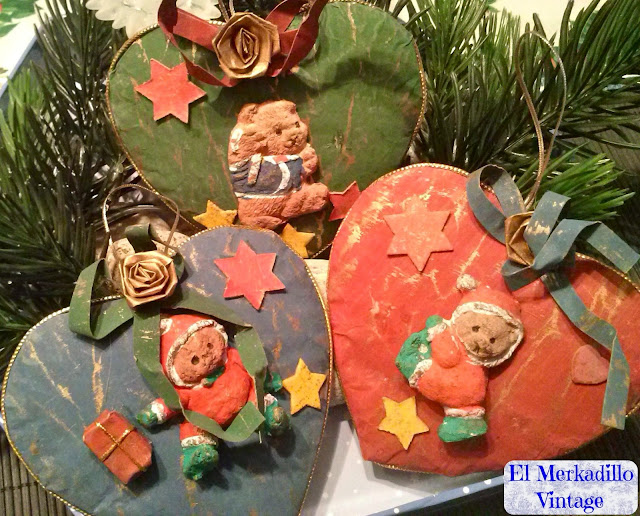 Adornos Navidad - Set de 3 Adornos (Mod.Corazón)