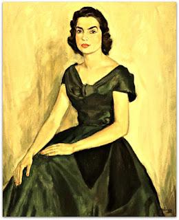 João Fahrion - Retrato de Lucila di Primio Conceição (1956) - Óleo sobre Tela
