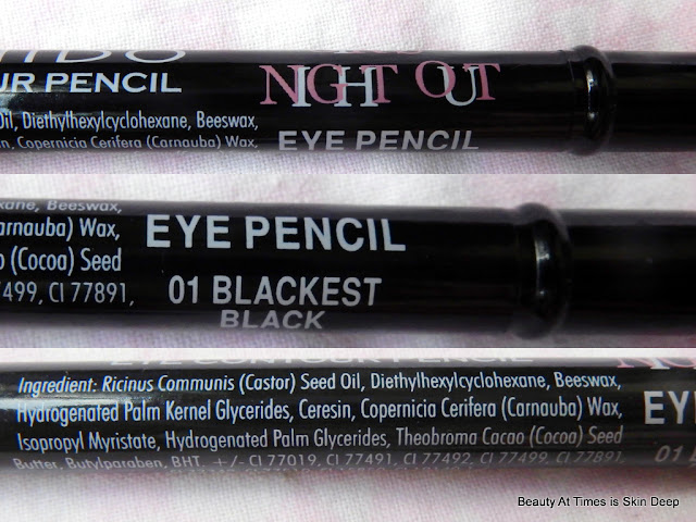 Nichido Girls Night Out Eye Pencil 01 Blackest Black ingredients