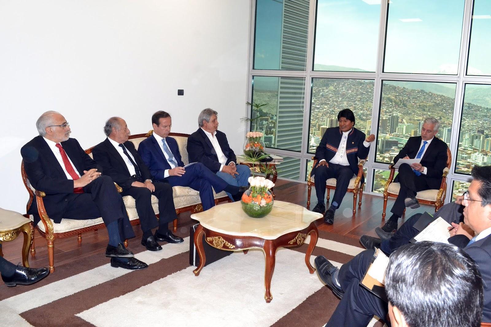 Primera reunión de alto nivel en el nuevo edificio del Ejecutivo en plaza Murillo / ABI