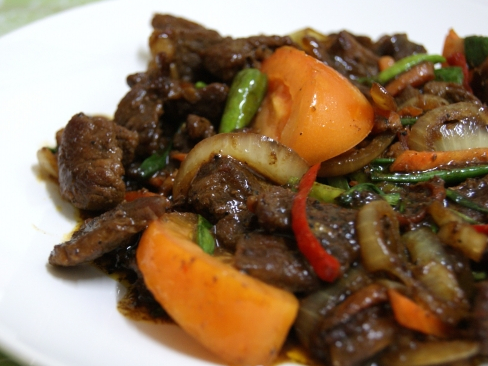 Resepi Daging masak lada hitam