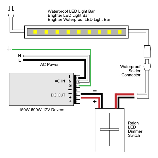 led with dimmer wiring diagram vlightdeco trading (led): wiring diagrams for 12v led lighting