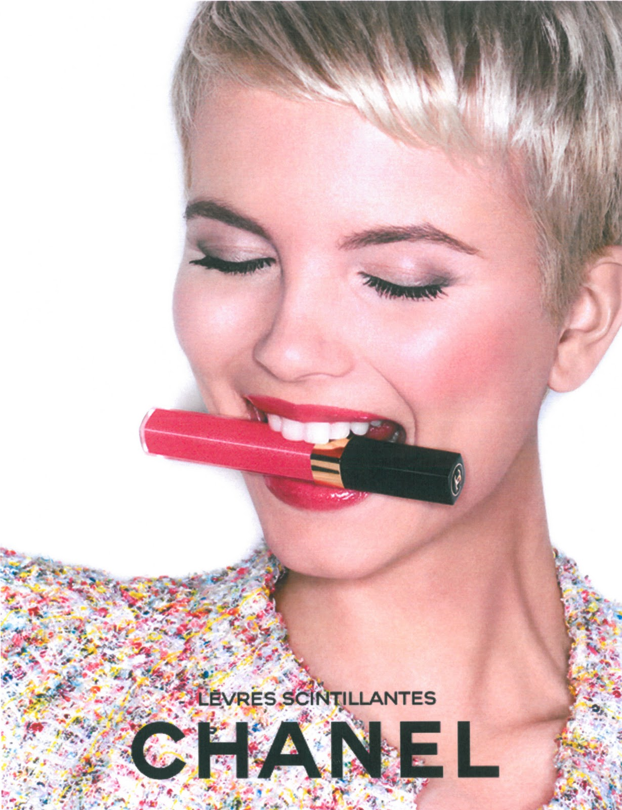 "Merethe Hopland For Chanel Beauty ""Levres Scintillantes"" S"