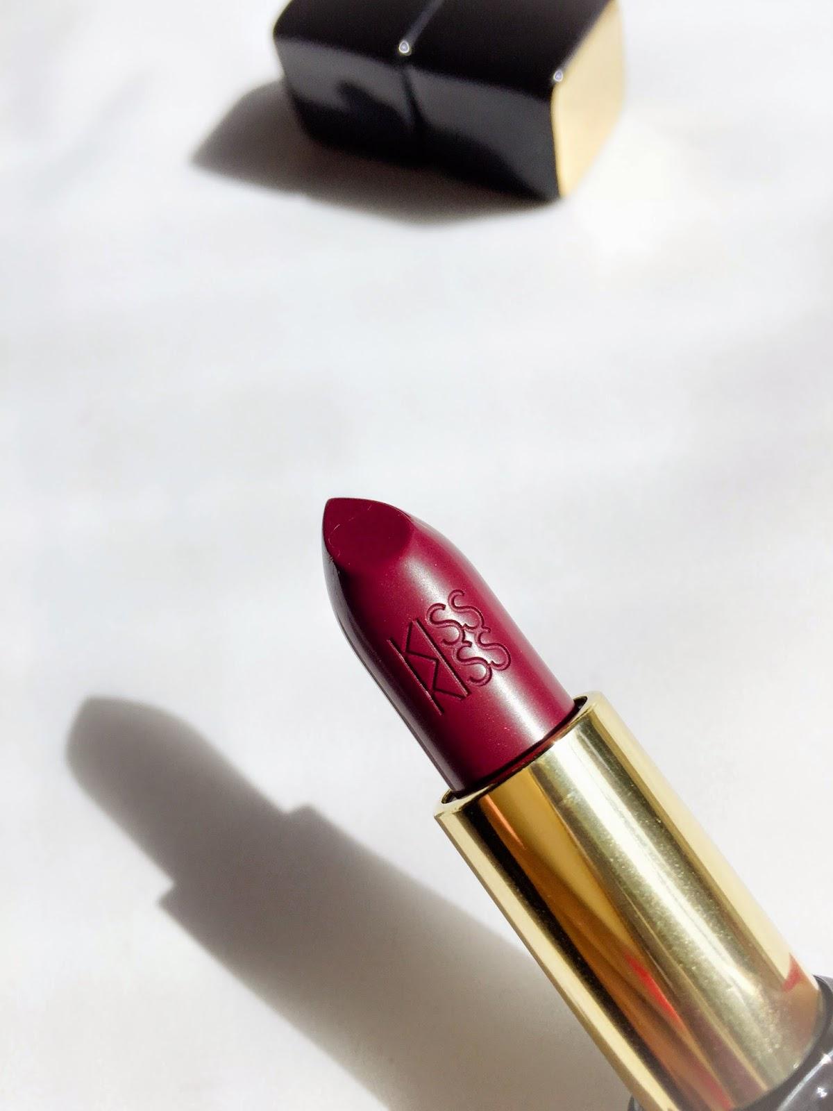 Guerlain Kiss Kiss Lipstick in So Plum