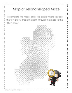 maze puzzle for st. patricks day
