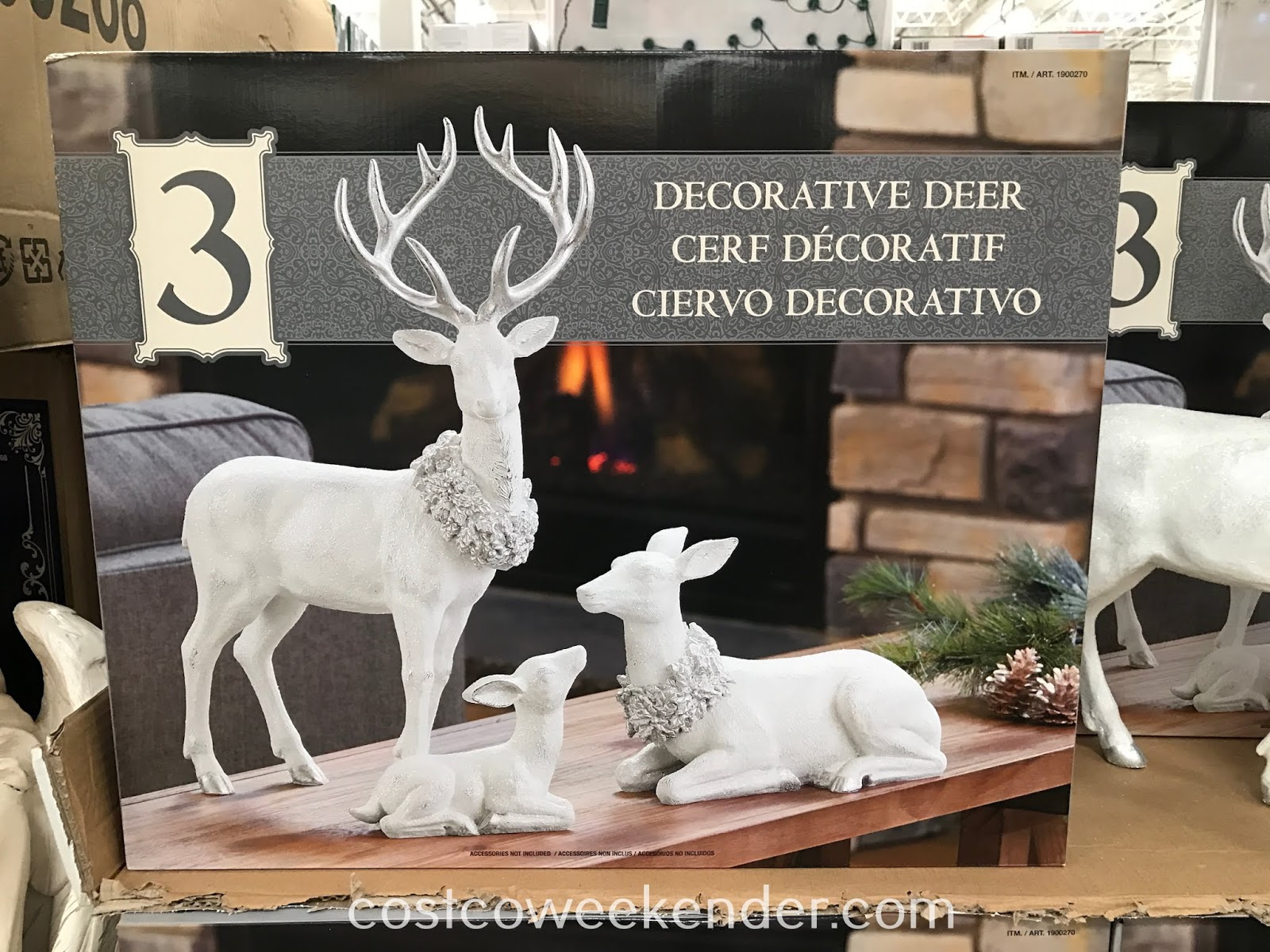 Costco 1900270 - Table Top Decorative Deer Family: an ideal addition to your Christmas decorations