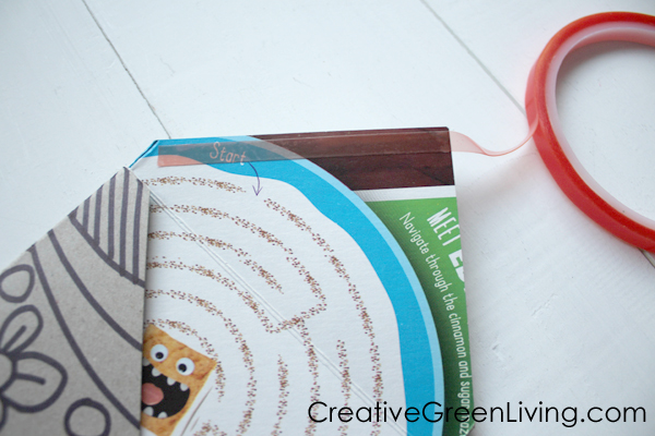 How to fold a DIY paper board envelope