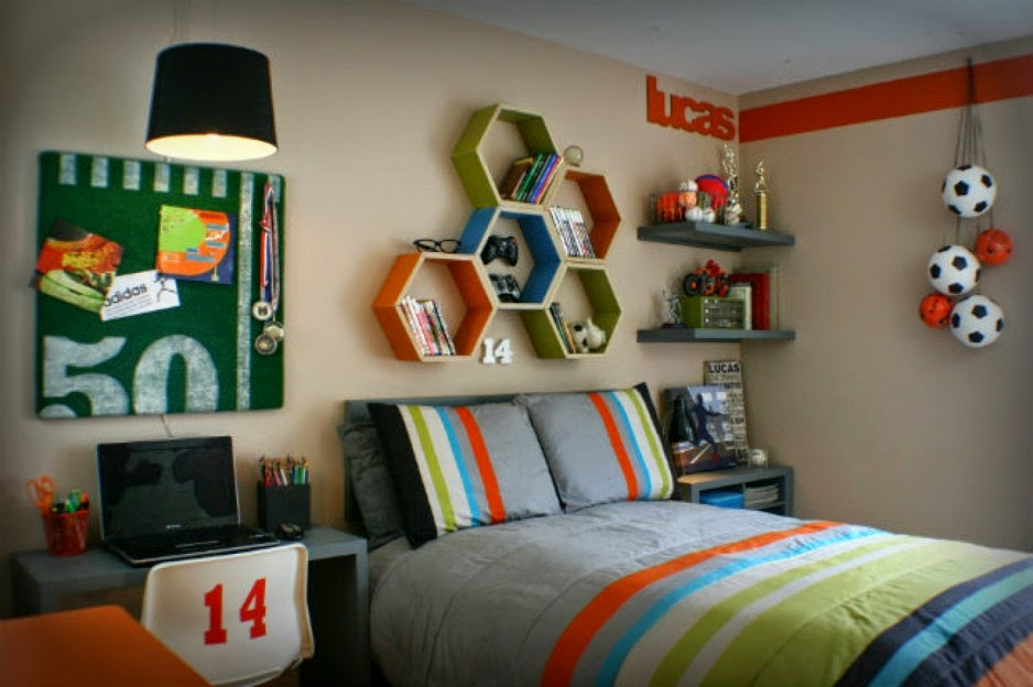 Boys Room Ideas & Boys Room Sport Theme Decorating Ideas