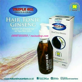 Manfaat triple six Hair tonic nasa gingseng