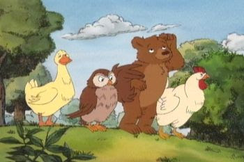 O pequeno urso desenho antigo